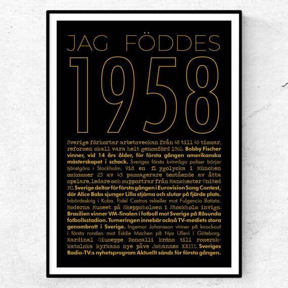 1958 guld poster