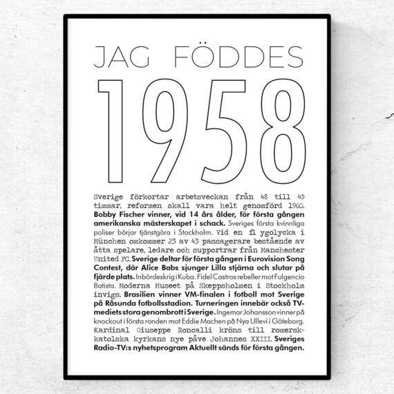 1958 linje poster