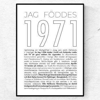 1971 linje poster
