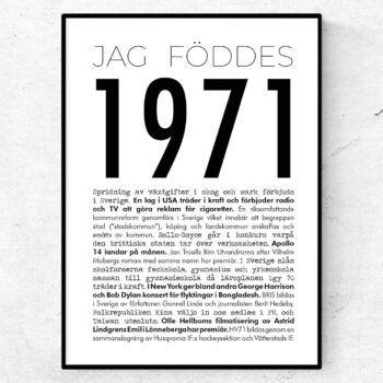 1971 modern poster