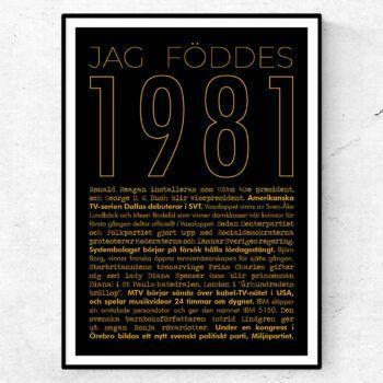 1981 guld poster