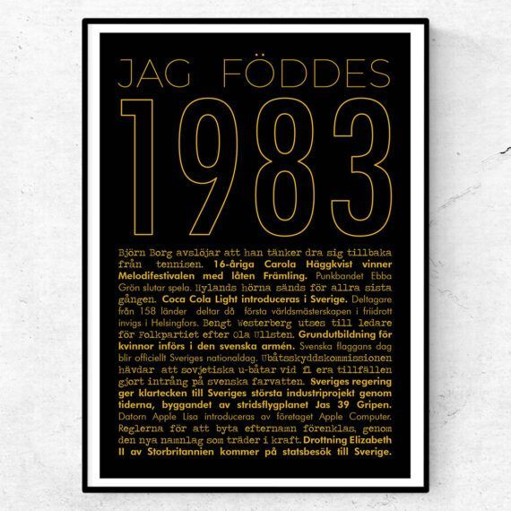 1983 guld poster
