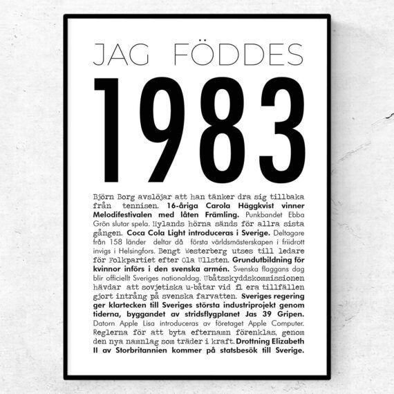 1983 modern poster
