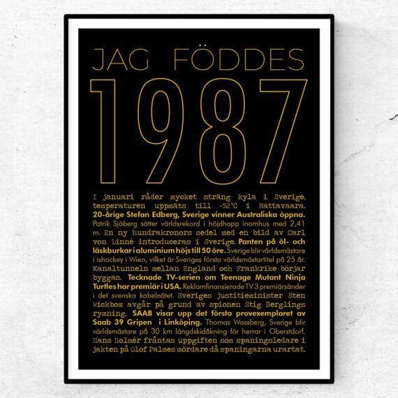 1987 guld poster