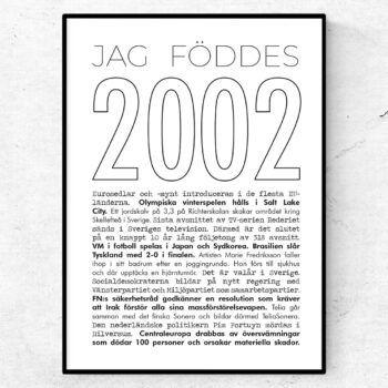 2002 linje poster