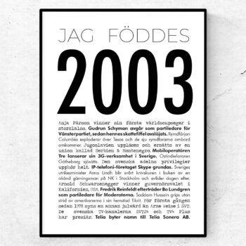 2003 modern poster