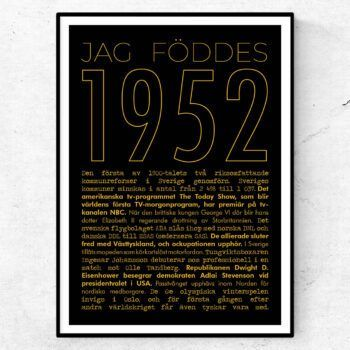 1952 guld poster
