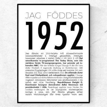 1952 modern poster