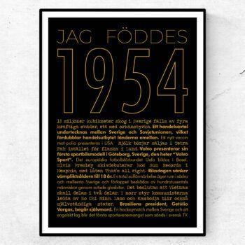 1954 guld poster