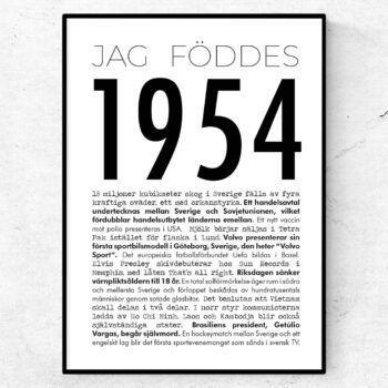 1954 modern poster