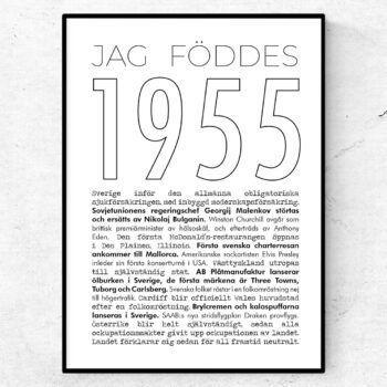 1955 linje poster