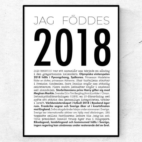 2018 modern poster