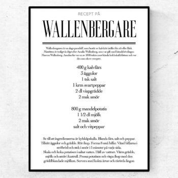 wallenbergare recept poster