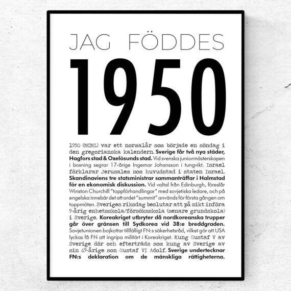 1950 modern poster
