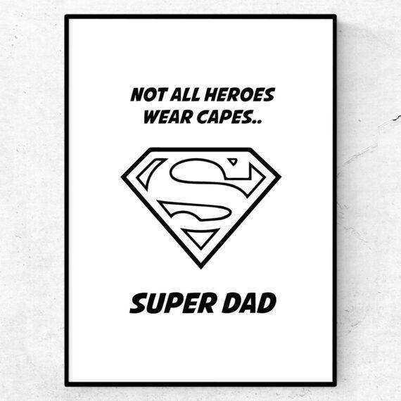 super dad fars dag poster present