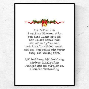 bjällerklang poster julsång citat
