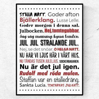 julsånger medley citat poster