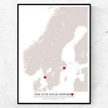 Kärlekskarta kärlek poster tavla tänk att du och jag träffades