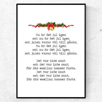 Nu är det jul igen poster julsång citat