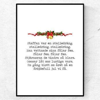 Staffan var en stalledräng poster julsånger citat