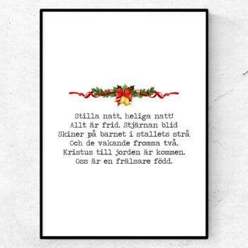Stilla natt poster citat julsång