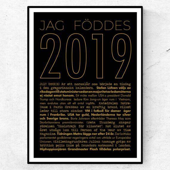 2019 årtalsposter tavla nyheter guld