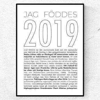 2019 årtalsposter tavla nyheter linje