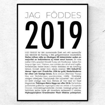 2019 årtalsposter tavla nyheter modern