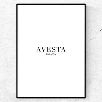 Avesta poster tavla