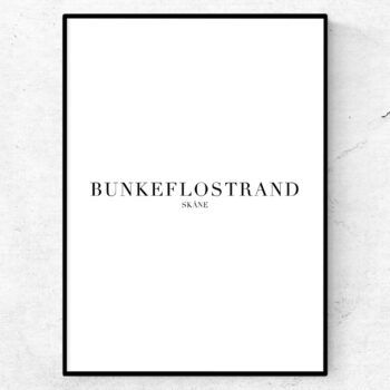 Bunkeflostrand poster tavla