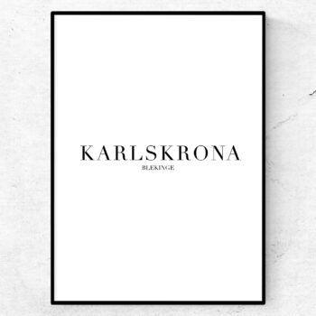 Karlskrona poster tavla