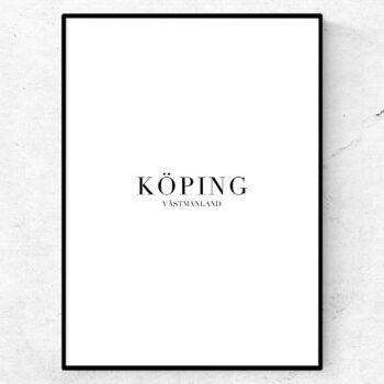 Köping tavla poster