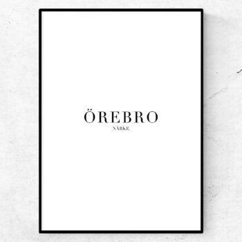 Örebro tavla poster
