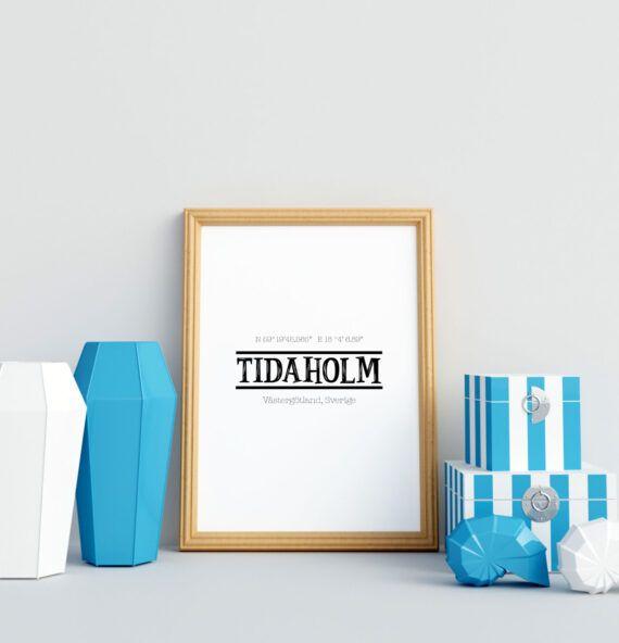 Tidaholm Din stad stadsposter med din by samhälle tavla