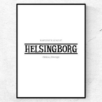 Helsingborg poster retro tavla