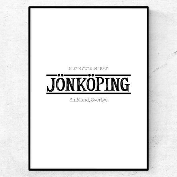 Jönköping poster tavla