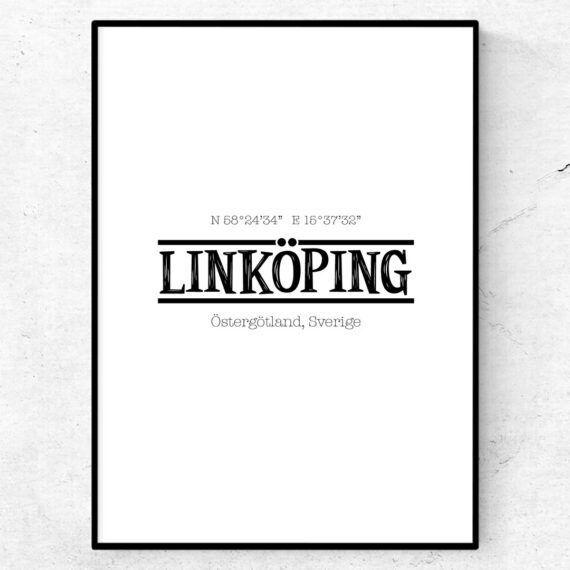 Linköping poster tavla