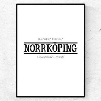 Norrköping poster tavla