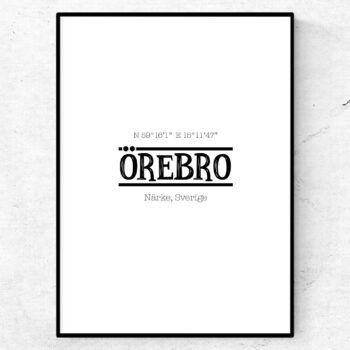Örebro poster tavla