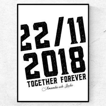 Together forever poster alla hjärtans dag present tavla