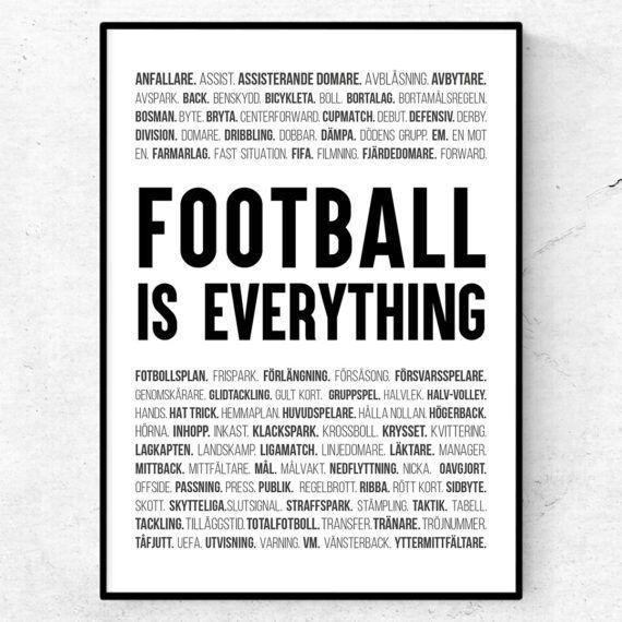 fotboll poster ord tavla