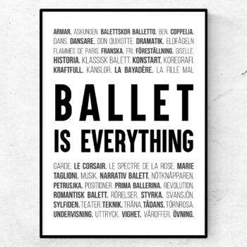 ballet dans poster ord tavla ballet dans