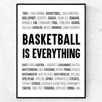 basket poster ord tavla basketball