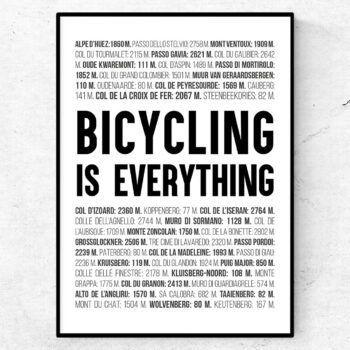 cykel cykling poster ord tavla tour de france landsvägscykel