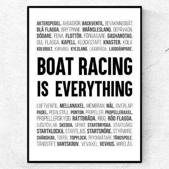 båtracing poster ord tavla båtar racing tävling