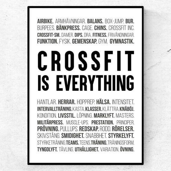 crossfit poster ord tavla crossfit