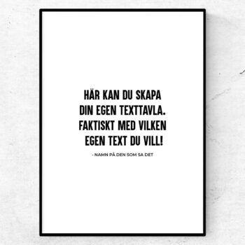 Poster med eget citat text låttext låtcitat
