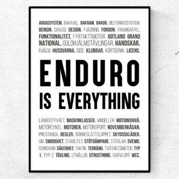 enduro poster ord tavla enduro racing motorcykel