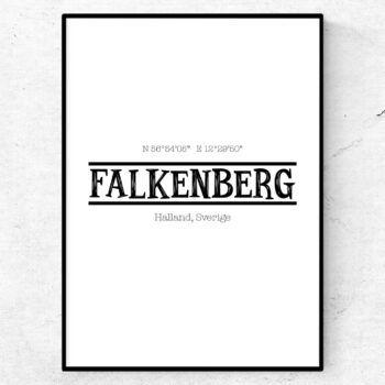 Falkenberg poster tavla stadsposter