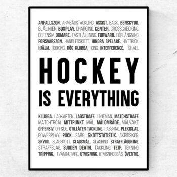hockey ishockey poster ord tavla